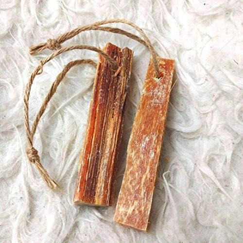 Kienspan - Fatwood - Kienholz Anzünder, 2 Stück an Jute-Schnur, 100 % natürlich, 10 cm lang für Bushcraft, Survival, Outdoor