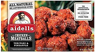 Evaxo Aidells Teriyaki & Pineapple Chicken Meatballs, 46 oz .#B