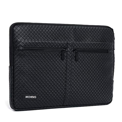 MCHENG 14 Inch Shock Resistant Protective Laptop Sleeve Case Notebook Portable Carrying Hand Bag for 2017 New 14' Lenovo ThinkPad X1 Carbon/Yoga / 14' HP Chromebook, Black