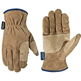 Wells Lamont Men's Heavy Duty Leather Ranching & Fencer Gloves | Durable, Abrasion & Water-Resistant HydraHyde, X-Large (1019XL)