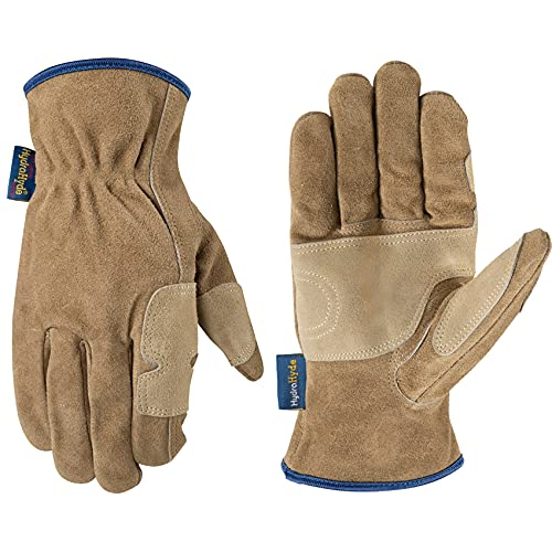 Wells Lamont Men's Heavy Duty Leather Ranching & Fencer Gloves | Durable, Abrasion & Water-Resistant...