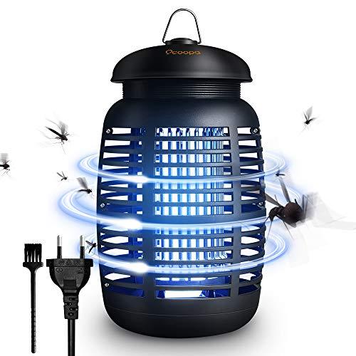 OCOOPA Elektrischer Insektenvernichter, 15W Insektenkiller Moskito Killer mit UV-Licht Mit Reinigungsbürste und 1,2 m Netzkabel, Insektenlampe Intelligente Mückenvernichter Innen Außeneinsatz