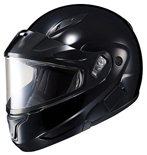 HJC CL-MAX2BTSN Solid Modular Bluetooth Snow Helmet Framed Dual Lens Shield (Black, Small)