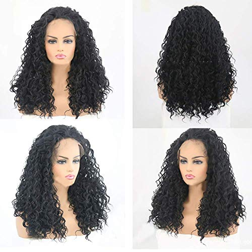 YLLN Hair Fashion Perücken für Frauen Synthetische Lace Front Fashion Perücken für Damen Curly Hair Hitzebeständige Fasern Lose Curly Lace Front Fashion Perücken für Damen Glueless With Baby Haarfarbe