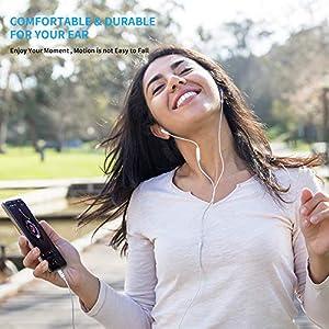 USB C Headphones,KINGONE Type C Earbuds USB C Earphones HiFi Stereo Magnetic with Mic & Volume Control Compatible with Google Pixel 3/2/XL,iPad Pro 2018,MacBook,Sony XZ2 Pro,Samsung S9 (White)