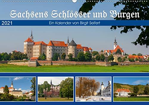 Sachsens Schlösser und Burgen (Wandkalender 2021 DIN A2 quer)