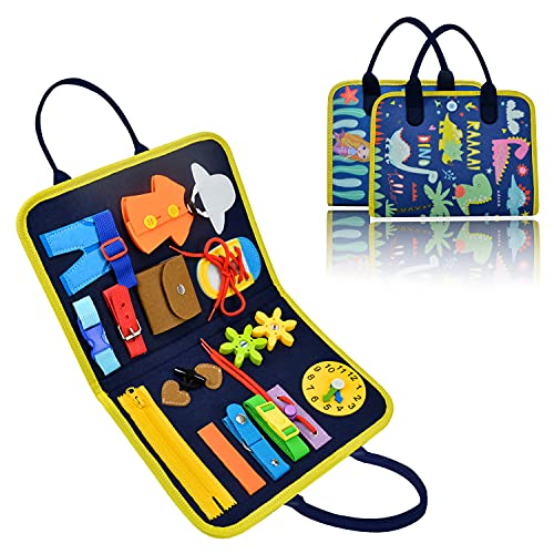 Busy Board, Montessori Toys Sensory Activity Developing Board for Fine Motor Skills,...