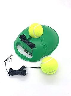 TaktZeit Self Tennis Trainer Tennis Rebound Tennis Training Gear with 2 String Balls…