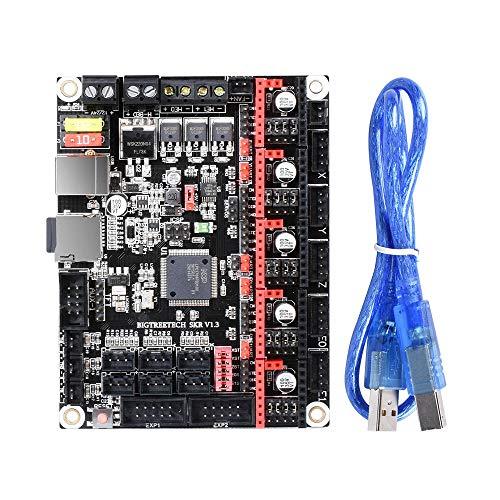Feixunfan Carte mère d'imprimante 3D Pièces de l'imprimante 3D vs MKS GEN L V1.3 Smoothieboard 32Bit + Mainboard TFT35 V2.0 écran LCD + BLtouch Kit capteur avec câble pour la Machine CNC
