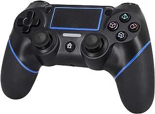 UNIRAKU PS4 ワイヤレスコントローラー PS4 PRO、PS4 SLIM、PS4に対応 タッチパッド、ライトバー、「SHARE」機能、イヤホンジャック、 ジャイロスコープ、3軸加速器、振動機能を持ち 接続簡単 DUALSHOCK 4並みのゲーム操作 Playstation 4用互換品人間工学を極めた設計で、ゴム製グリップが手に良い触感を提供します