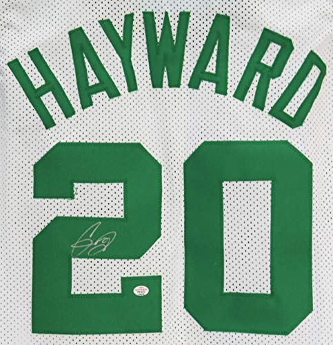 Gordon Hayward Boston Celtics Signed Autographed White #20 Custom Jersey PAAS COA