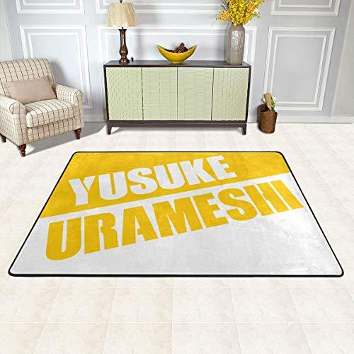 Yu Yu Hakusho-Yusuke Urameshi Non-Slip Carpet Area Rug Modern Flannel Microfiber Anime/Cartoon Rectangle Carpet Decor Floor Rug Living Room,Bedroom,Study Floor Mat 90x60cm