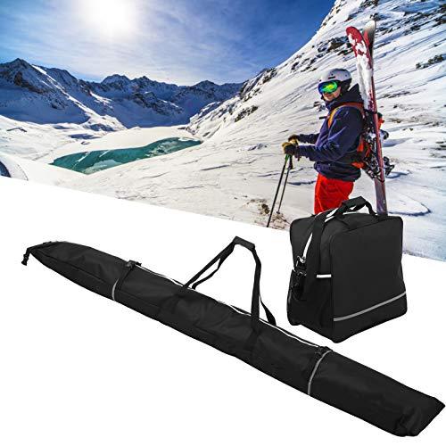 01 Bolsa para Botas de esquí, Estuche portátil de Nailon para Transportar Snowboard, Longitud Ajustable para Aventuras de esquí al Aire Libre para aeropuertos para automóviles