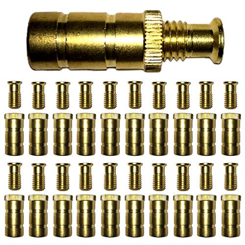 """Silginnes Pool Cover Anchors Concrete and Pavers Deck 20 Pack - Universal Size Fits 3/4"""" Hole - Best for Pool Safety Cover Installation - Durable Brass Pool Cover Anchors and Head Screw Bolts (20)"""
