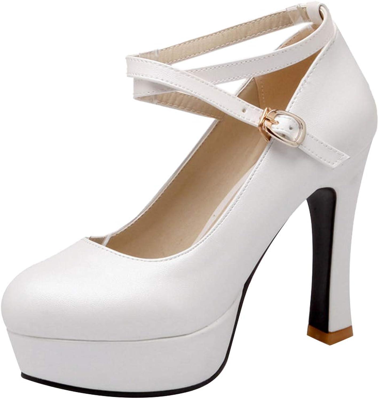 ELEEMEE Women Fashion Platform Party Pump shoes