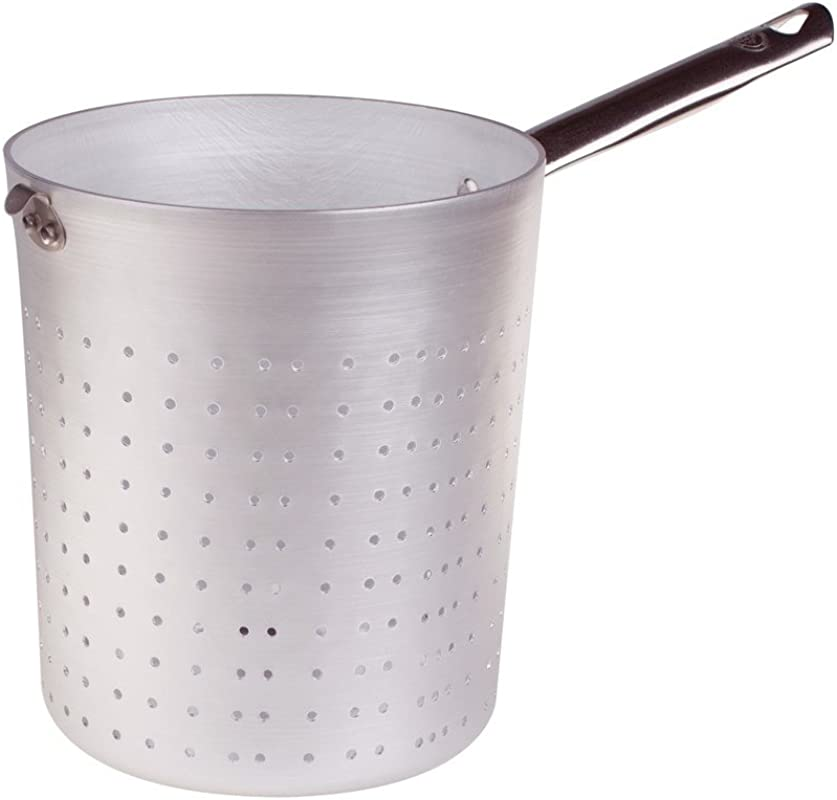 Pentole Agnelli Professional Aluminium 3 Mm Pasta Colander With Handle Diameter 22 Cm