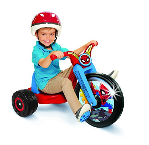 Disney Spider-Man, 15' Fly Wheel Junior Cruiser, 1 Ride-On, Ages 3-7, Blue/Red, 20' W X 22.5' H X 32.83' L, 18.5' x 20.28'