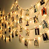 Clip cadena luces LED Plug and Play Starry hadas luces de cadena con clips de blanco caliente for la fiesta de Navidad de la pared del dormitorio Fotos Patio de Halloween Decoración de boda en Acción