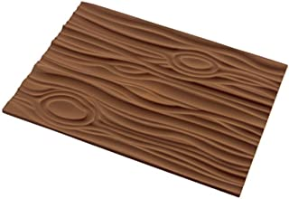 silikomart 23.057.77.0065 Tapis décor Magic Wood, Silicone, Marron, 25 x 18,5 x 0,6 cm