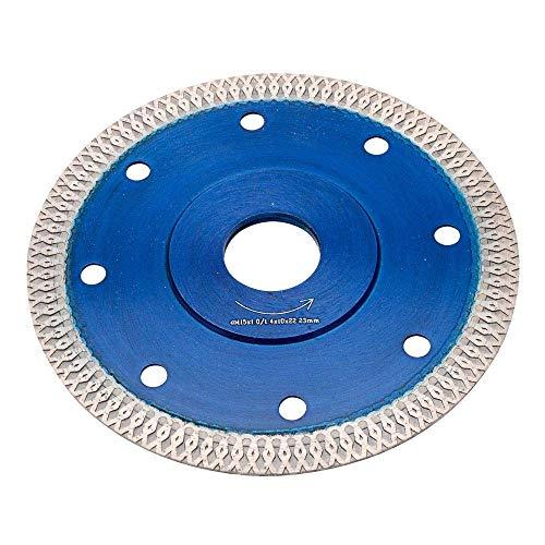 Hoja de sierra de diamante turbo fina de 4,5 pulgadas, húmeda o seca, para cortar azulejos de porcelana, cerámica de mármol de granito (4,5'115 mm)