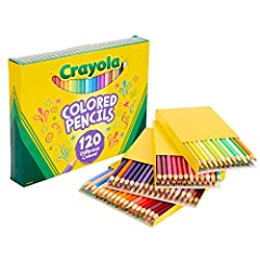 CRAYOLA COLORED PENCIL SET: 120 Crayola Colored Pencils in different colors. PRESHARPENED COLORED PENCILS: These Crayola Colored Pencils are ready for use right out of the box. ALL UNIQUE COLORS: There are no repeats in this box, so you have 120 colo...