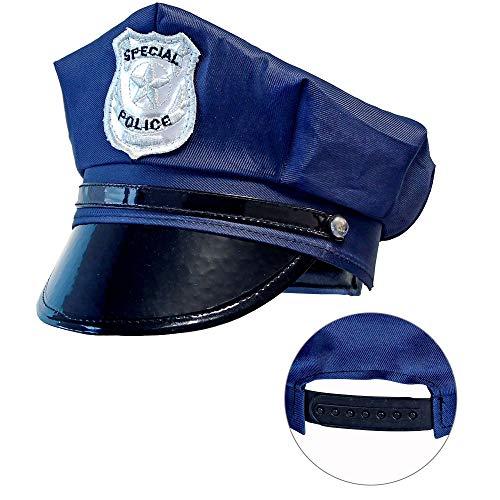 Widmann 03327 - Polizeimütze für Kinder, größenverstellbar, Police Officer, Mottoparty, Karneval