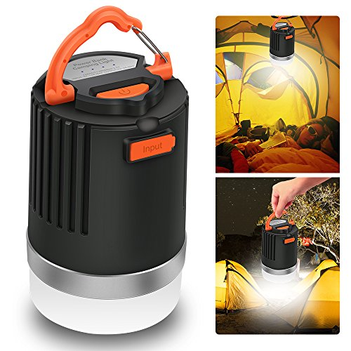 ELEPOWSTAR LED Camping Lantern & Power Bank, 2-in-1 Waterproof 8000mAh USB External Battery Charger,IP65 Emergency Lights for Outdoor Backpacking Hiking Fishing Hurricanes