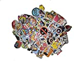 Picavinci Design 100 pcs Sticker Pack Hippies Graffiti Vinyl Decal for car Helmet Wall Luggage Bumper Snowboard hoverboards Phone...