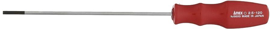 ネーピア反対胸アネックス(ANEX) 六角レンチドライバー 対辺2.5×120 No.6600