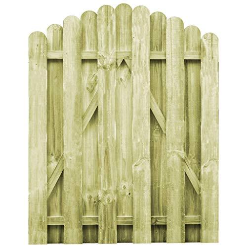 vidaXL Kiefer Imprägniert Gartentor 100x125cm Holztor Zauntor Lattenzaun Tor