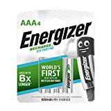 Energizer AAA Rechargeable Batteries, Recharge Extreme Batteries, Pack of 4