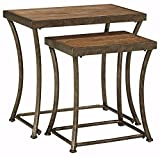 Ashley Furniture Nartina Nesting End Tables Set of 2/Light Brown/Casual