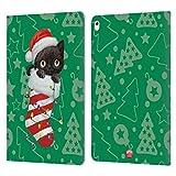 Head Case Designs Officiel Animal Club International Chat 2 Chaussettes de Noël Coque en Cuir à...