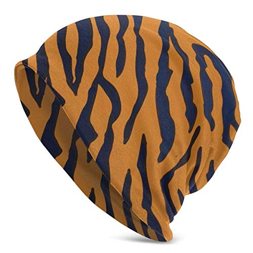 Beanie Unisex Tiger Animal Print Cool Warm Skull Knit Hat Unisex Slouchy Soft Headwear Gorra con puños