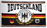 FahnenMax–Bandera fanflagge Alemania Izar con 2ojales, 90x 150cm + Gratis Pegatinas, Flaggenfritze–Bandera, Flagge Deutschland - Motiv 7