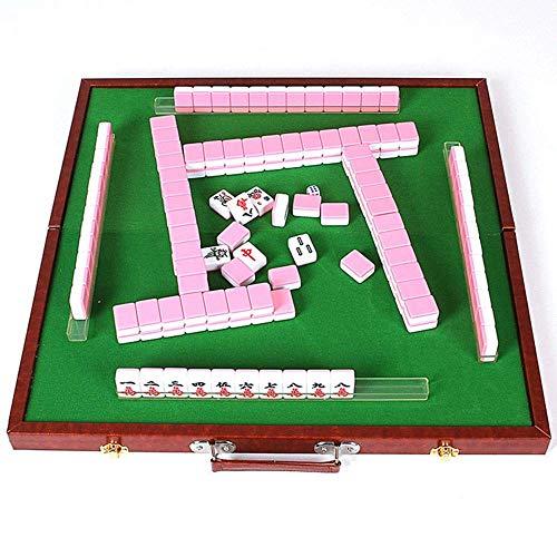 Riyyow 30mm Mahjong Mahjong Set Set Party Spiel Traditionelles Spiel mit Mini Tisch Unterhaltung Mini Mahjong (Color : Blue, Size : 30mm)