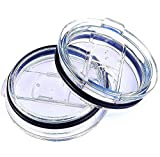 2 Pack 20 Oz Tumbler Lids Spill-proof Splash Resistant Lids Fits for Yeti Rambler Ozark Trail and most other 20 ounces tumblers New Edition