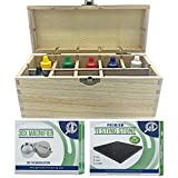 Professional Gold, Silver, Platinum Jewelry Testing Kit with Stone Instructions and Box with 30X Eye Loupe Magnifier Precious Metals 10K 14K 18K 24K 999 925 Scrap