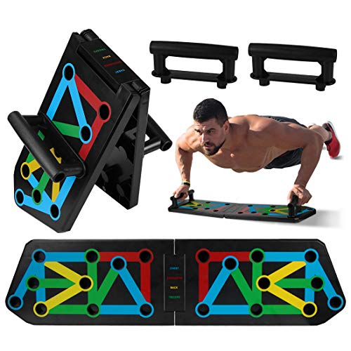 Tabla de Flexiones, 13 en 1 Push Up Rack Board, Tablero Plegable...