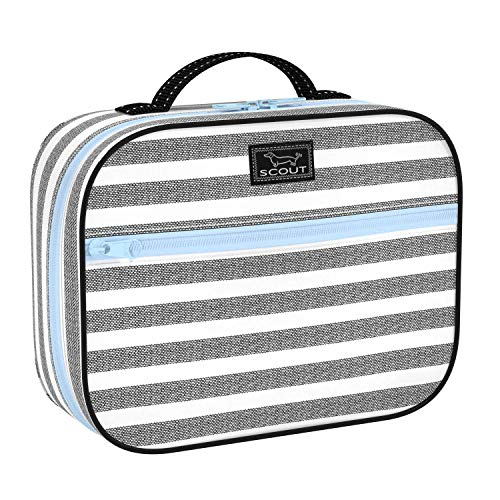 SCOUT Boxed Lunch Cooler, Insulated Lunch Bag for Women, Slim-Profile Lunch Box with Zipper Closure, Interior Compartment. and Exterior Pocket (Multiple Patters Available)
