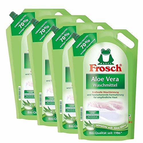 Preisvergleich Produktbild 4x Frosch Aloe Vera Waschmittel 1, 8 Liter - Sensitiv mit Aloe Vera
