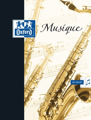 Oxford Cahier de Musique et Chant 17x22 24 Pages avec portées + 24 Pages Lignées