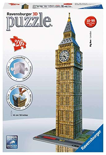 Ravensburger 12554 Big Ben – Puzzle 3D 216 Piezas