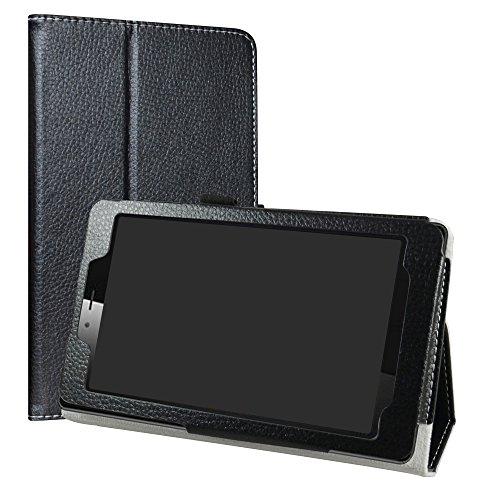 LiuShan Vodafone Smart Tab Mini 7 / Alcatel Pixi 4 7 Custodia, Slim Sottile Pieghevole con Supporto in Piedi Caso per 7' Vodafone Smart Tab Mini 7 / Alcatel Pixi 4 7 Tablet,Nero