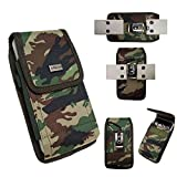 AISCELL Belt Hip Holster for Galaxy S8 Active S7 Active S6 Active, Rugged Camouflage Nylon Pouch Carrying Case Metal Belt Clip Holster Fits Phone with Hybrid Protective Hard Skin Case Cover
