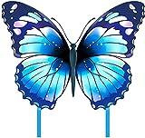 Pandiui23 Cometa Mariposa, Cometa Infantil, Cometa Mariposa para niños (Azul)