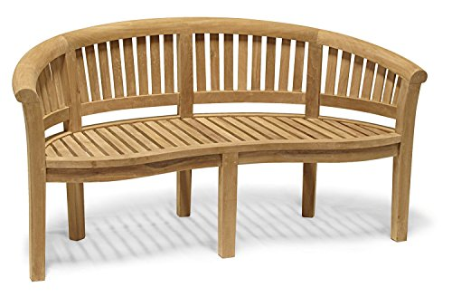 Jati Wimbledon Deluxe Teak Banana Bench Brand, Quality & Value - ASSEMBLED