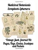Medicinal Botanicals Scrapbook Ephemera: Vintage Junk Journal Kit, Pages, Tags, Circles, Envelopes