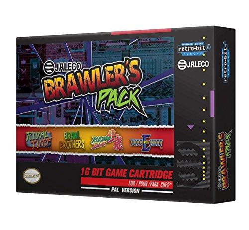 Retro-Bit Europe Jaleco Brawler's Pack PAL Version SNES Cartridge for Super NES  (Nintendo Super NES) [Importación inglesa]