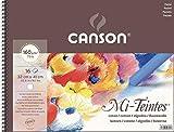 Álbum Espiral, 32x41 cm, 16 Hojas, Canson Mi-Teintes 60% Algodón, Abeja 160g Blanco